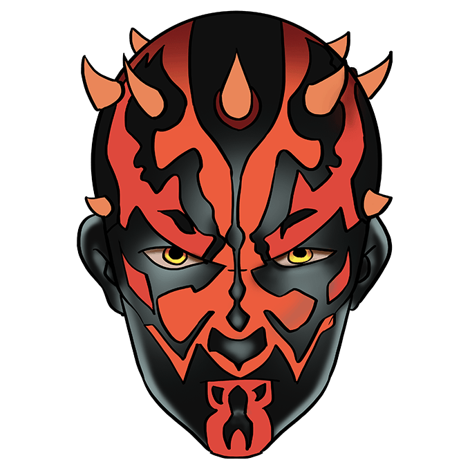 How to Draw Darth Maul from Star Wars: Step 10