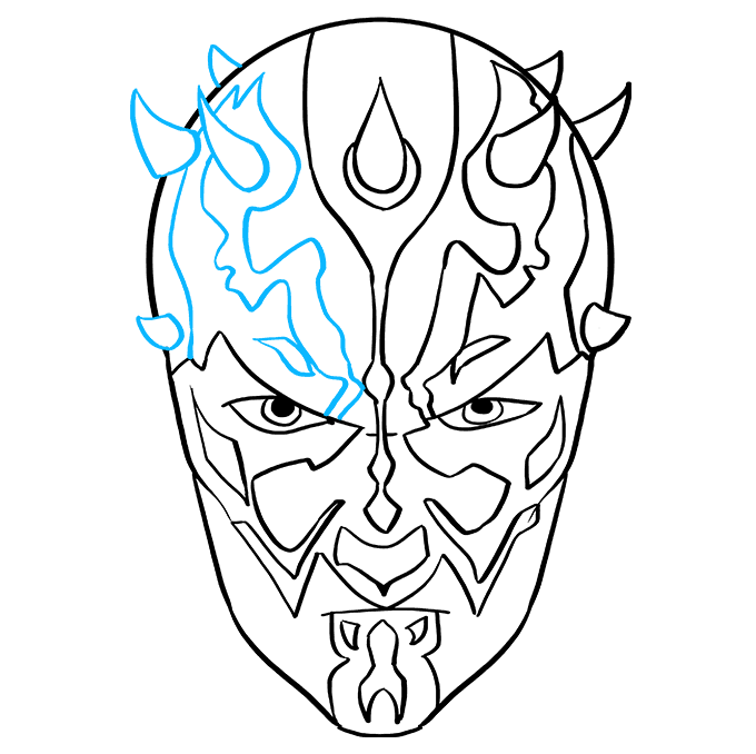 How to Draw Darth Maul from Star Wars: Step 8