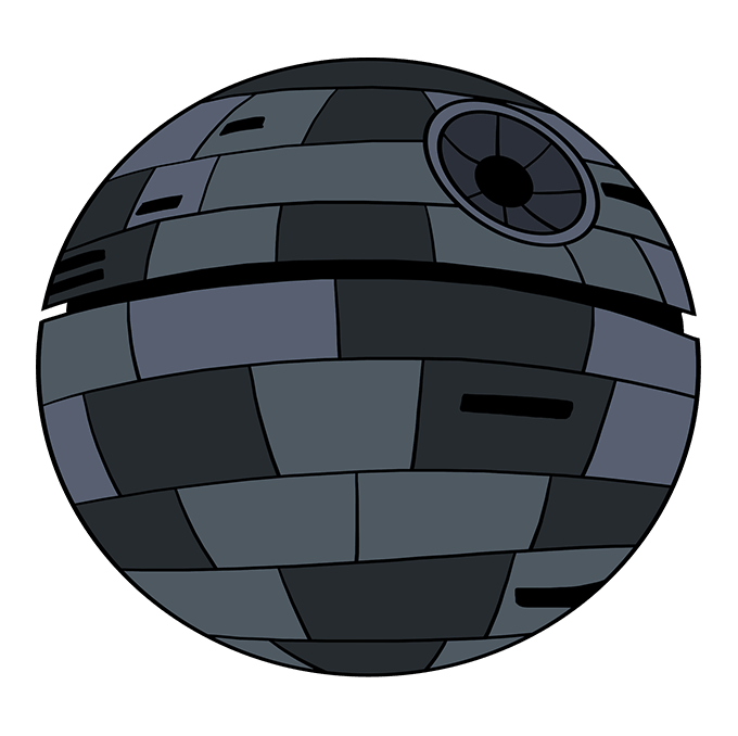 How to Draw Death Star from Star Wars: Step 10