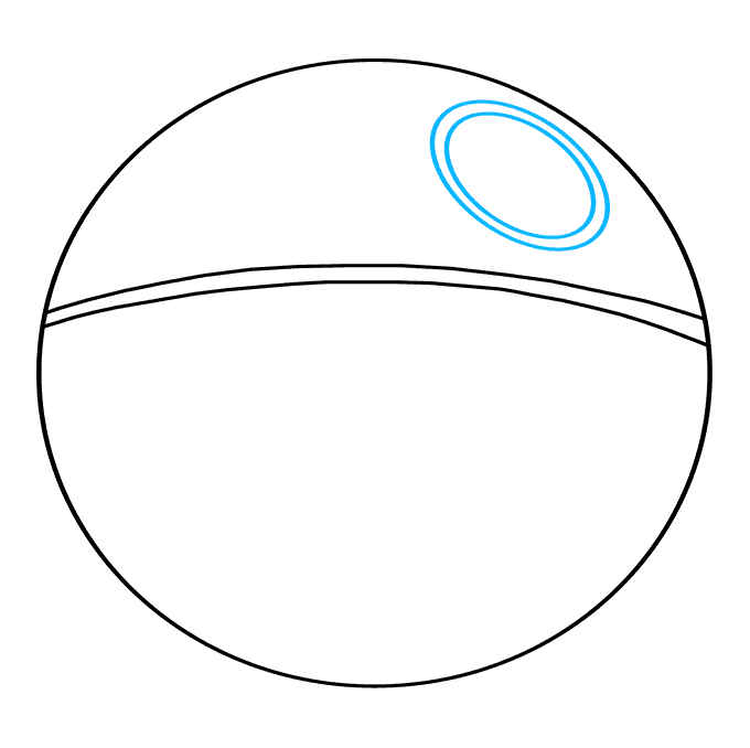How to Draw Death Star from Star Wars: Step 3