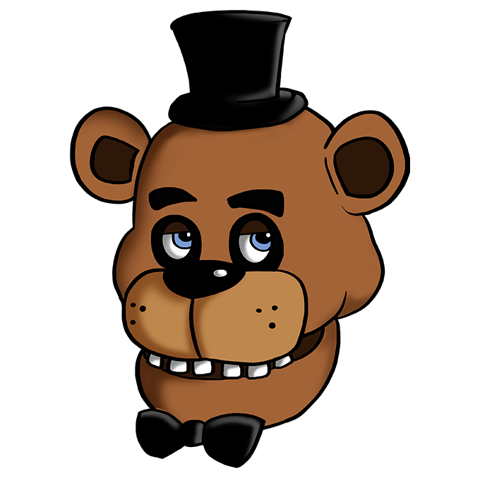 How to Draw Freddy Fazbear at Five Nights at Freddy's: Step 10