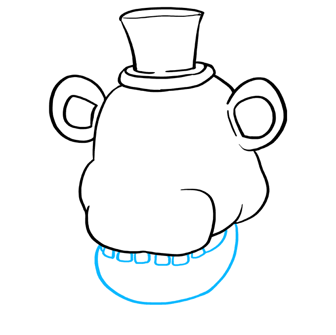 How to Draw Freddy Fazbear at Five Nights at Freddy's: Step 5