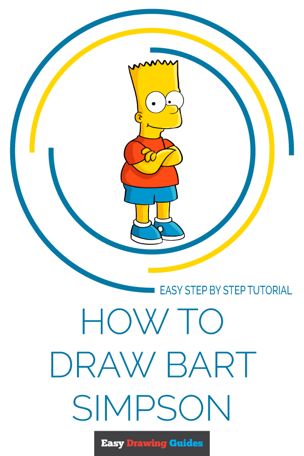How to Draw Bart Simpson | Share to Pinterest