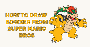 How to Draw Bowser from Super Mario Bros Featured Image