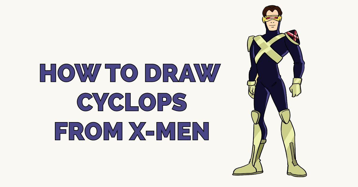 How to Draw Cyclops from X-Men Featured Image