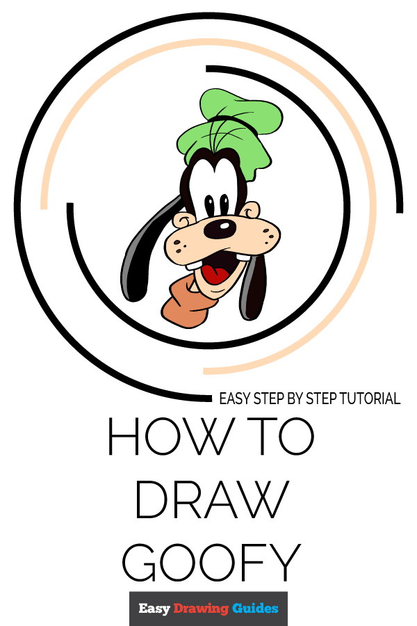 How to Draw Goofy | Share to Pinterest