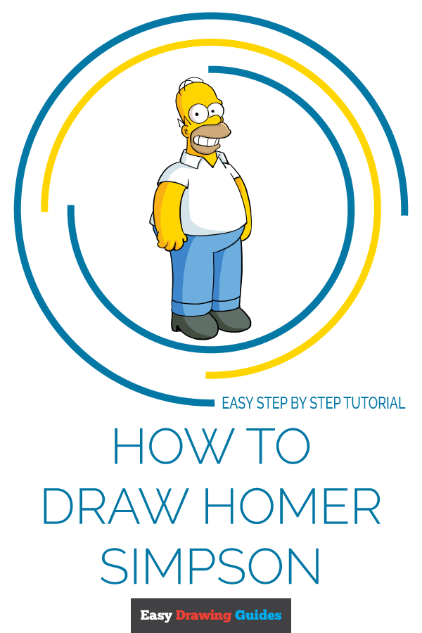 How to Draw Homer Simpson | Share to Pinterest