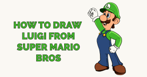 How to Draw Luigi from Super Mario Bros Featured Image