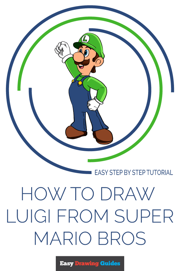 How to Draw Luigi from Super Mario Bros | Share to Pinterest
