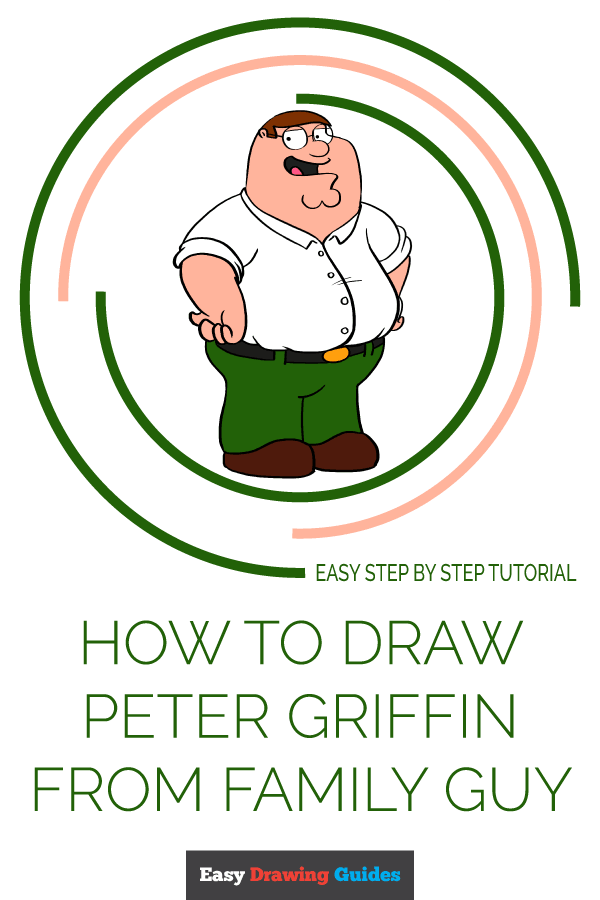 How to Draw Peter Griffin from Family Guy | Share to Pinterest