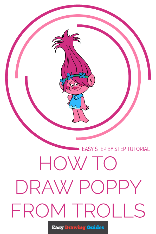 How to Draw Poppy from Trolls | Share to Pinterest