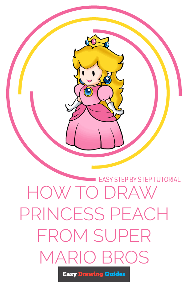 How to Draw Princess Peach from Super Mario Bros Pinterest Image