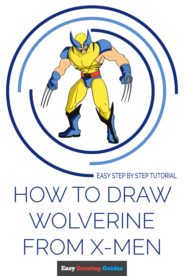 How to Draw Wolverine from X-Men | Share to Pinterest