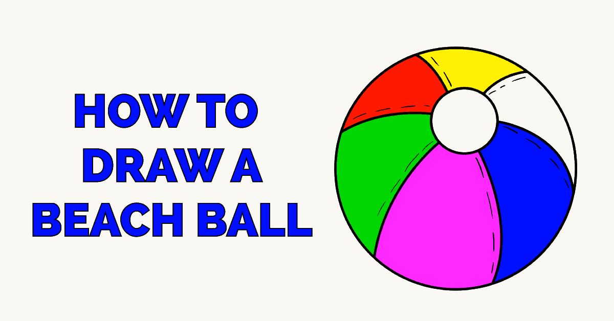 How to Draw a Beach Ball Featured Image