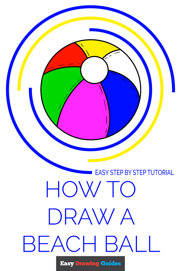 How to Draw Beach Ball | Share to Pinterest