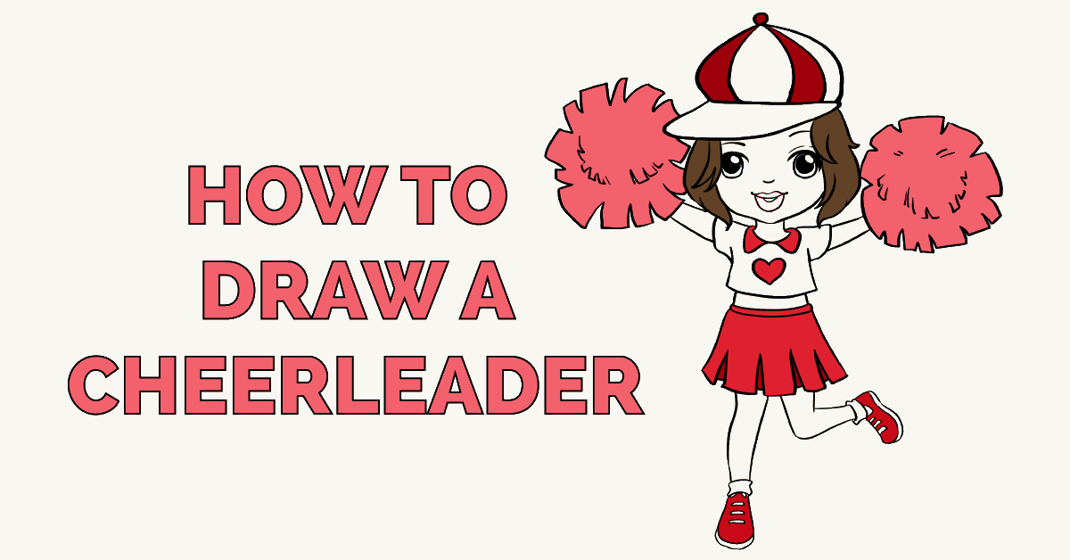 How to Draw a Cheerleader Featured Image