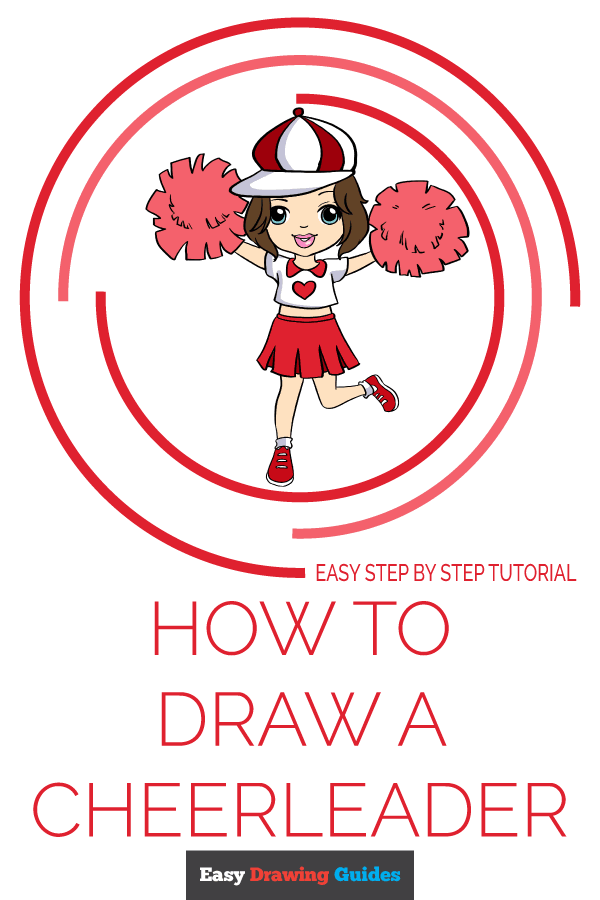 How to Draw Cheerleader | Share to Pinterest