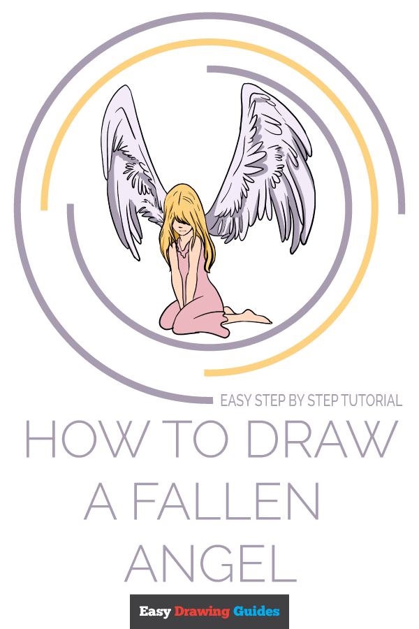 How to Draw a Fallen Angel Pinterest Image