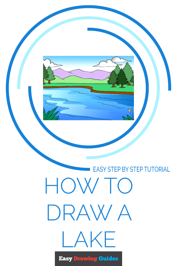 How to Draw Lake | Share to Pinterest