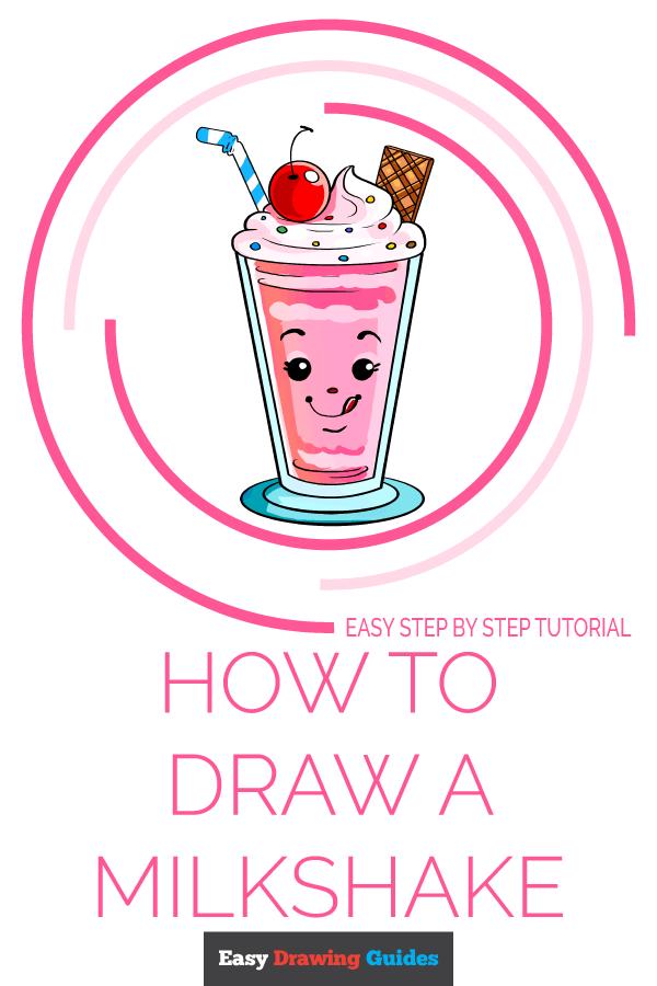 How to Draw Milkshake | Share to Pinterest