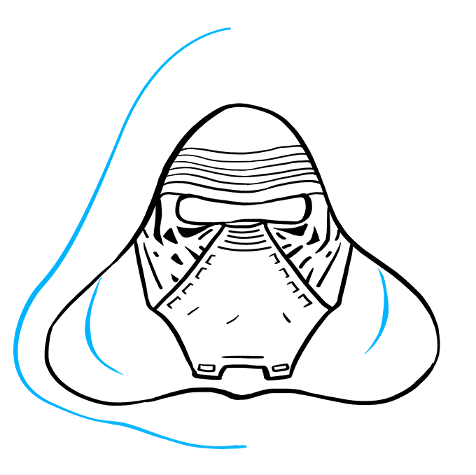 How to Draw Kylo Ren: Step 8