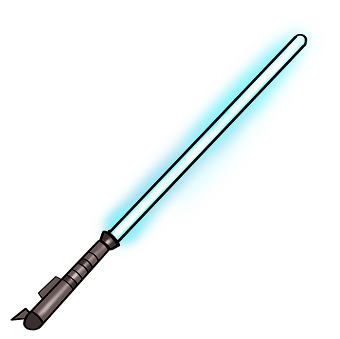 How to Draw Lightsaber: Step 10