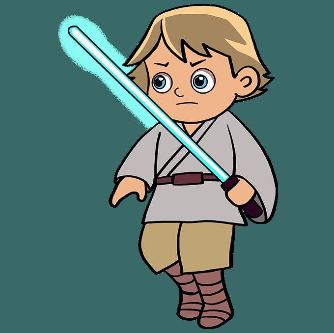 How to Draw Luke Skywalker: Step 10