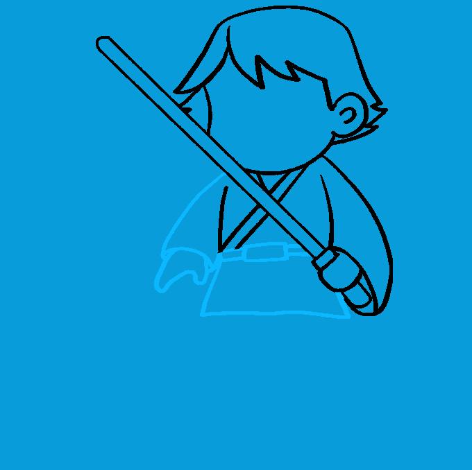How to Draw Luke Skywalker: Step 7
