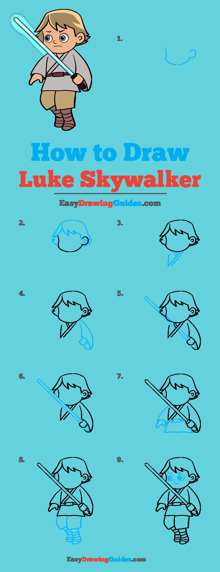 How to Draw Luke Skywalker