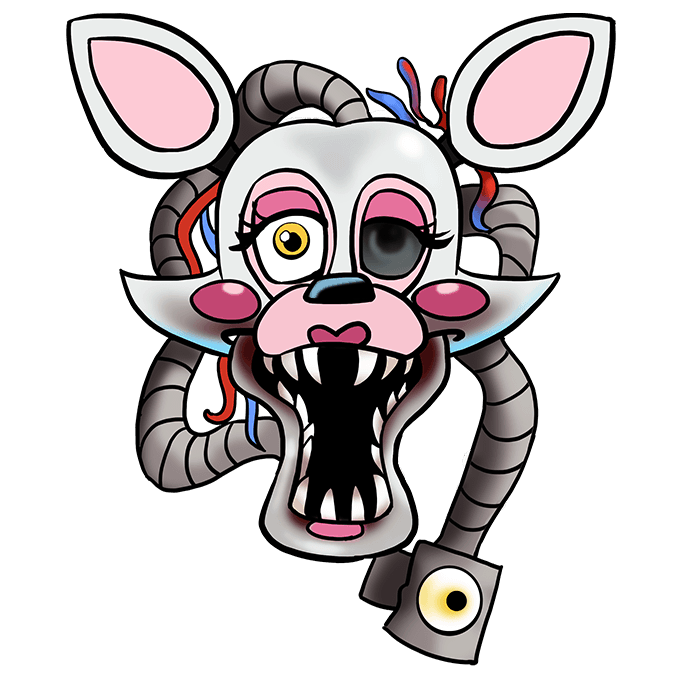 How to Draw Mangle from Five Nights at Freddy's Step 10