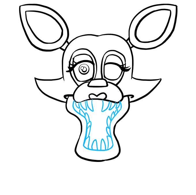 How to Draw Mangle from Five Nights at Freddy's: Step 8