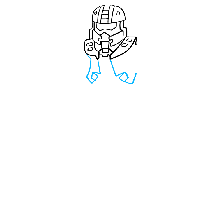 How to Draw Master Chief from Halo: Step 4