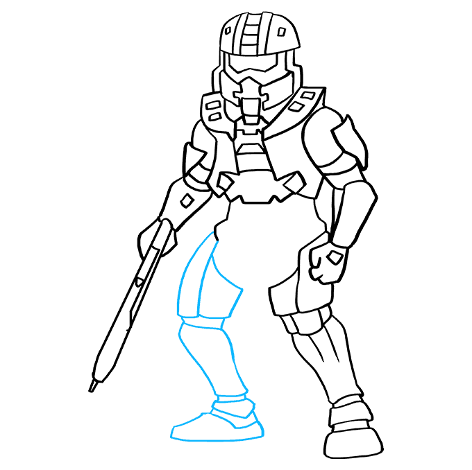 How to Draw Master Chief from Halo: Step 8