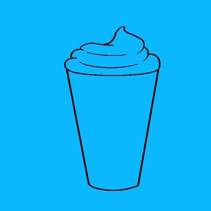 How to Draw Milkshake: Step 4