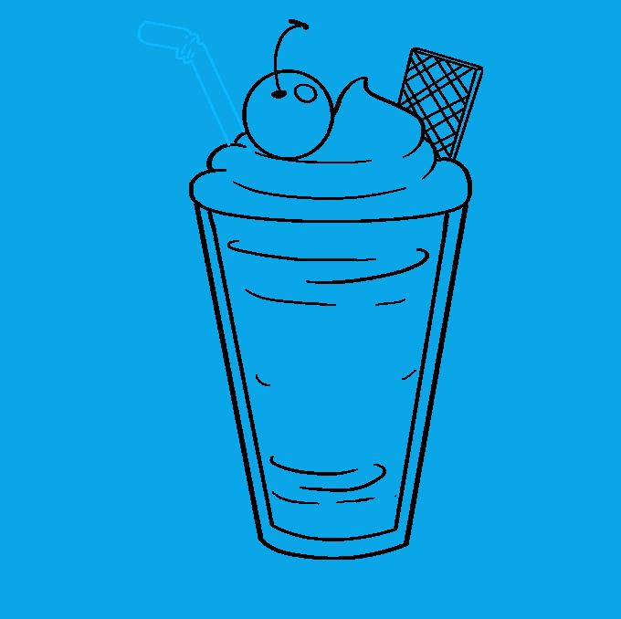 How to Draw Milkshake: Step 7