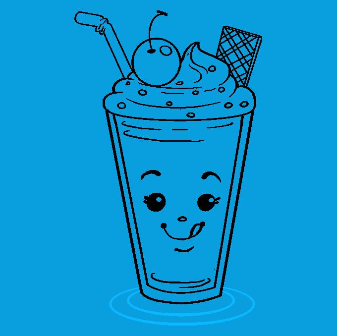How to Draw Milkshake: Step 9