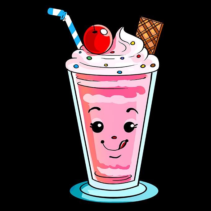 How to Draw Milkshake: Step 10