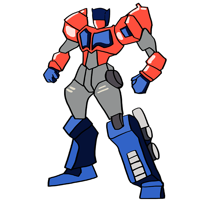 Cómo dibujar Optimus Prime de Transformers: Paso 10