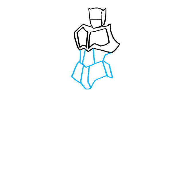 How to Draw Optimus Prime from Transformers Step 4
