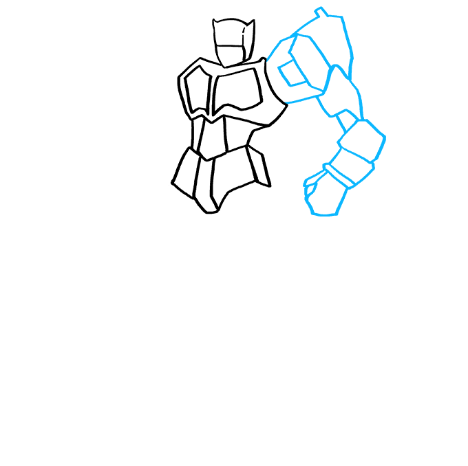 Cómo dibujar Optimus Prime de Transformers: Paso 5