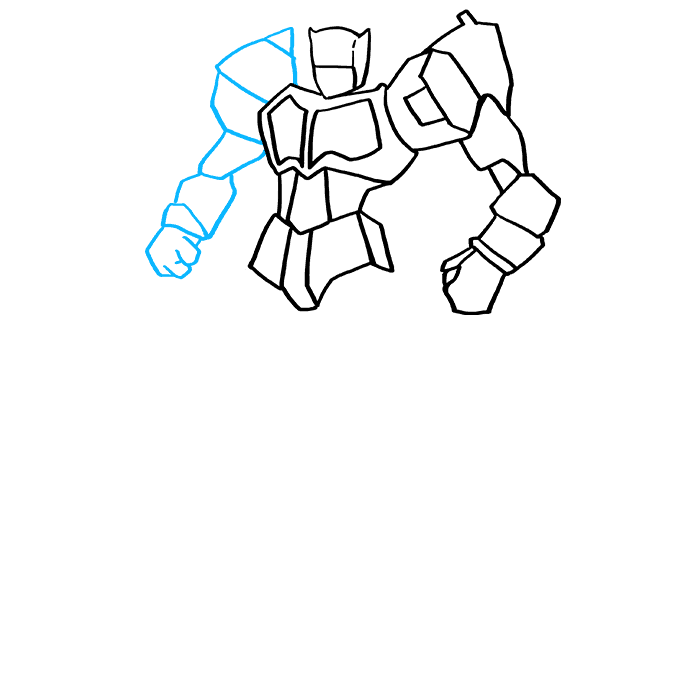 How to Draw Optimus Prime from Transformers Step 6