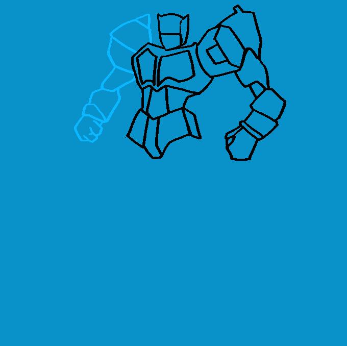 Cómo dibujar Optimus Prime de Transformers: Paso 6