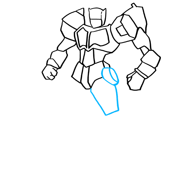 How to Draw Optimus Prime from Transformers Step 7