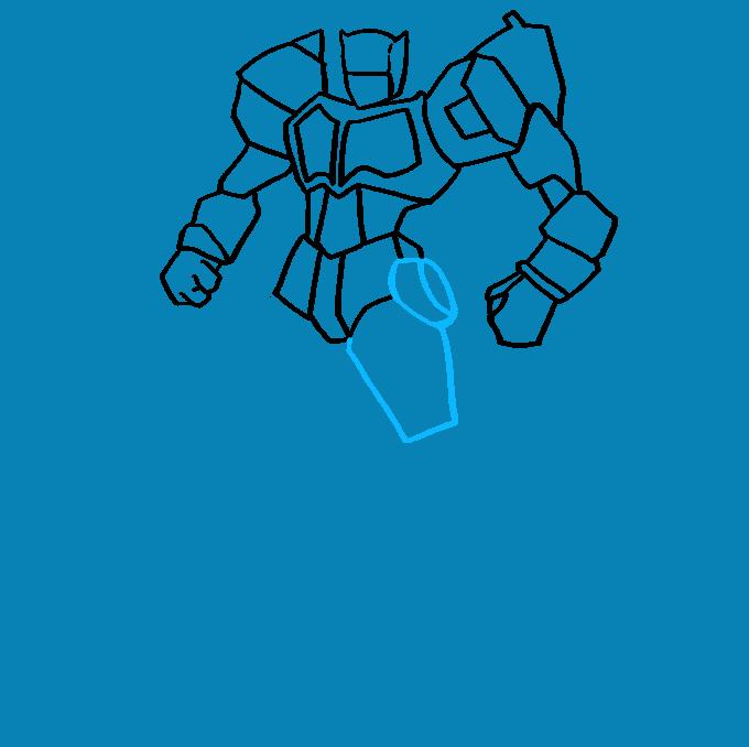 Cómo dibujar Optimus Prime de Transformers: Paso 7