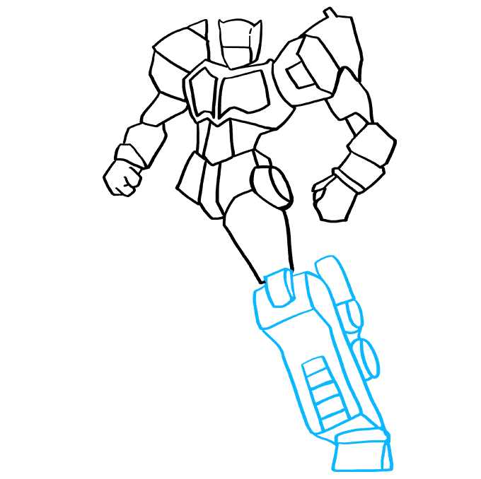 How to Draw Optimus Prime from Transformers Step 8