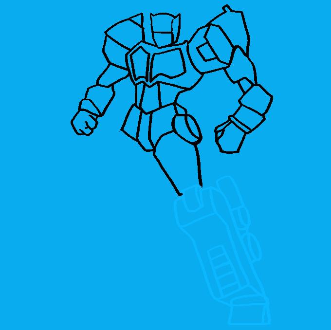 Cómo dibujar Optimus Prime de Transformers: Paso 8