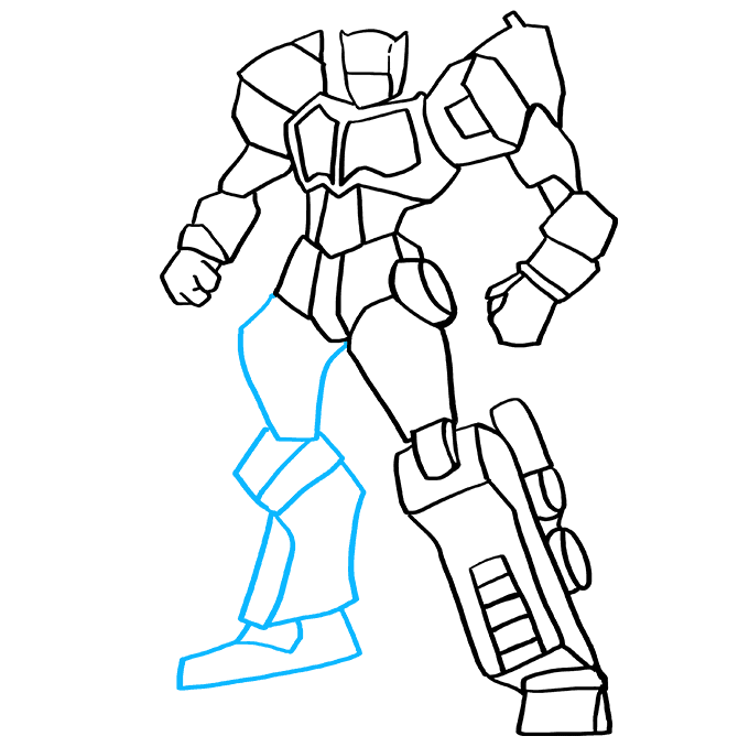 Cómo dibujar Optimus Prime de Transformers: Paso 9