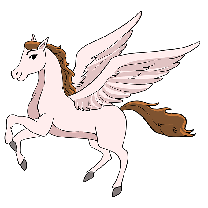 How to Draw Pegasus: Step 10