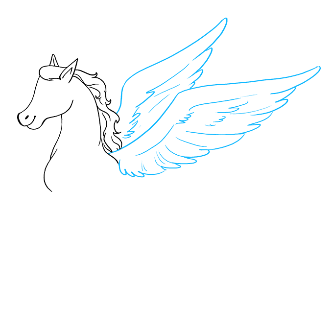 How to Draw Pegasus: Step 6