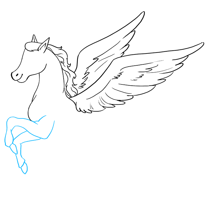 How to Draw Pegasus: Step 7